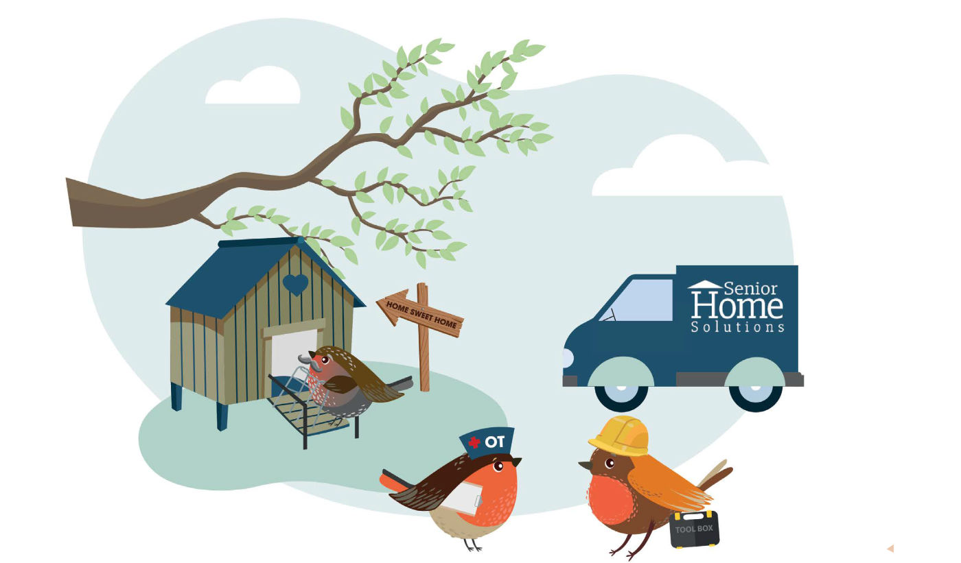 Senior Home Solutions Bird graphic